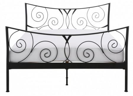 Pat Princess metal, negru, 180 x 200 cm