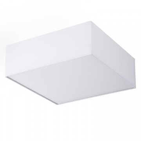 Plafoniera Borris tesatura/fier, alb, patrat, 2 becuri, 50cm, 240 V