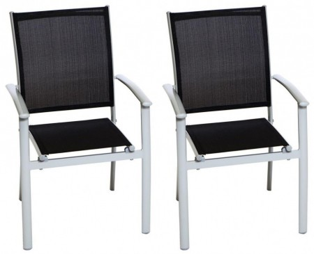 Set de 2 scaune Milano Klassik negre