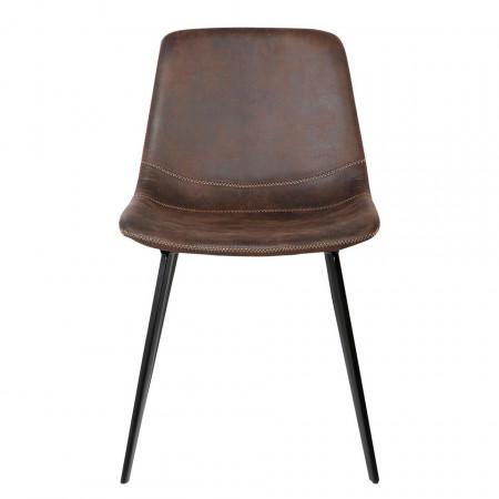 Set de 2 scaune Teini tapitate, espresso