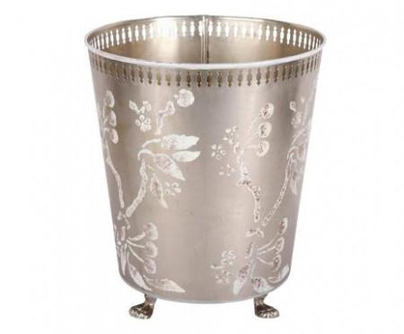 Vas Flora, 20 x 26 x 30 cm, metal/ alama, pictat manual
