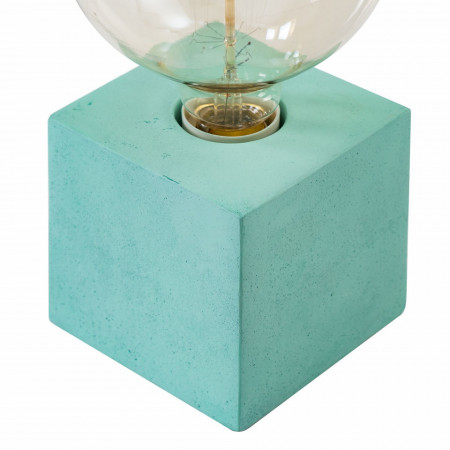 Veioza Bomi beton, verde menta, 1 bec 220 V