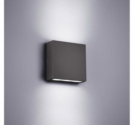 Aplica LED Thames aluminiu/plastic, gri, 2 becuri, 230 V, 3W