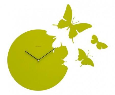 Ceas de perete Butterfly verde
