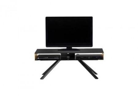Comoda TV Smart TV negru/cupru, 110x42x40 cm