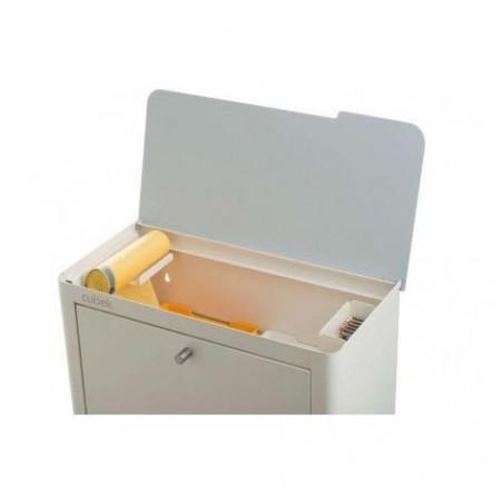 Coș de gunoi CUBEK alb pentru colectare separată, 4 compartimente
