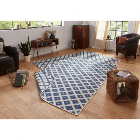 Covor Nizza, fibre sintetice, albastru jeans/crem, 200 x 290 cm