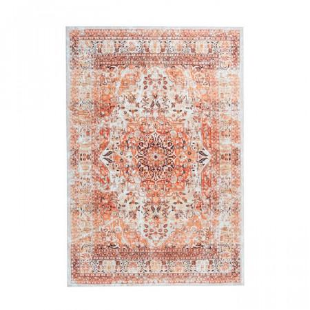 Covor Odis, poliester, portocaliu/bej, 80 x 150 cm