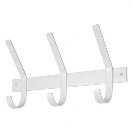 Cuier Dex I metal, alb, 40 x 21 x 9.5 cm