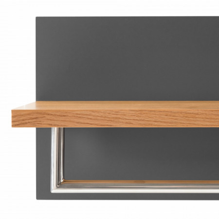 Cuier Lindholm MDF, gri mat, 75 x 30 x 25 cm