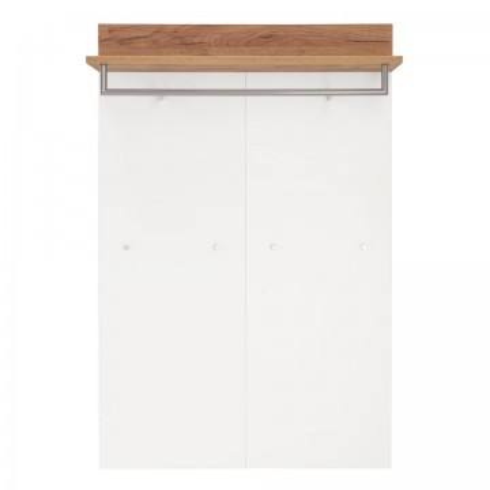Cuier Nerola PAL/stejar, alb, 96 x 147 x 29 cm