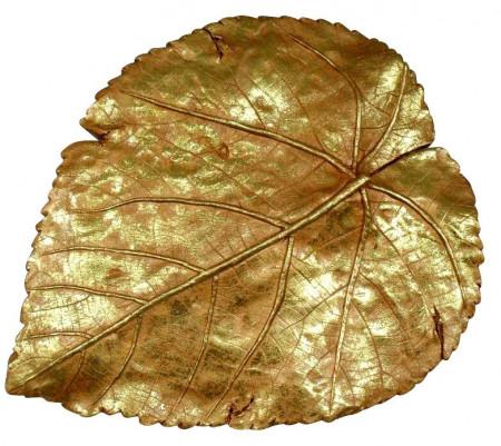 Decoratiune de perete Linden frunza, polirasina, 30x30x3
