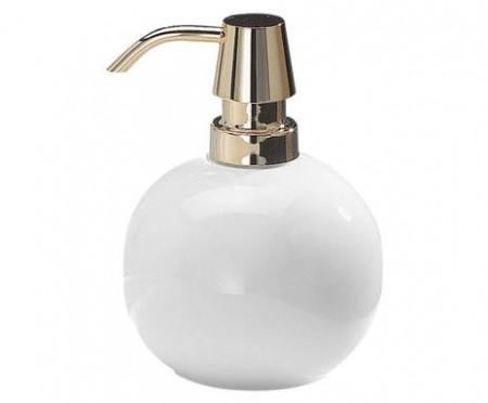 Dispenser sapun Louisa alb/argintiu