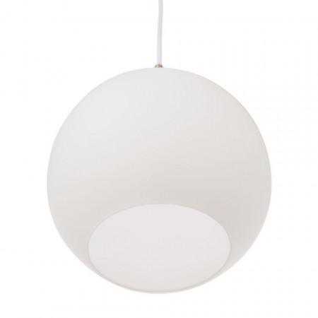 Lustra tip pendul Ballot cu 3 becuri, sticla/fier, alb, 220 V