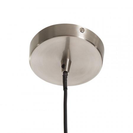 Lustra tip pendul Elven sticla/fier, nichel, 1 bec, diametru 20 cm, 220 V
