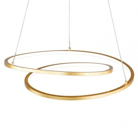Lustra tip pendul LED Loris I plastic/fier, auriu, 1 bec, diametru 49 cm, 220 V