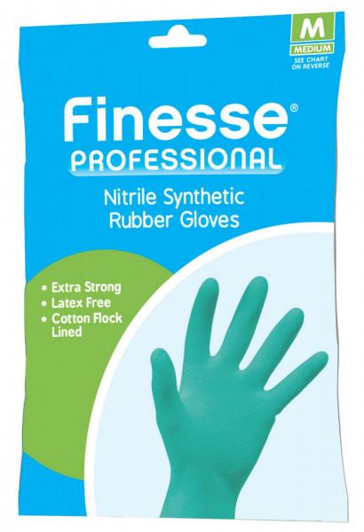 Manusi Finesse Professional din cauciuc nitril sintetic, marimea L, bleu