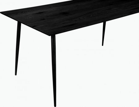 Masa de living Monza Eadwine MDF/metal, negru, 120 cm x 76 cm x 80 cm