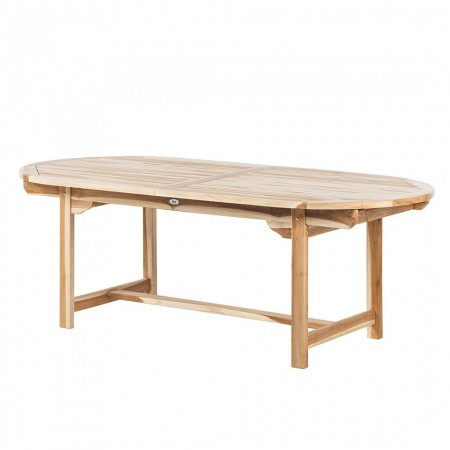 Masa extensibila Ohio II - ovala - lemn masiv de tec