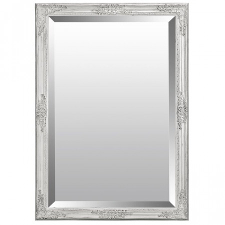 Oglinda de perete Jaylyn, lemn, alba, 70 x 60 x 3,2 cm