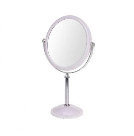 Oglinda Karll cu picior, doua fete, rama plastic