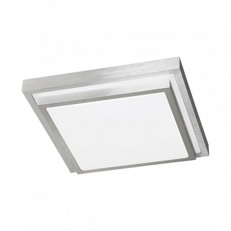 Plafoniera Halden metal/plastic, argintiu/alb, 1 bec, 9 x 30 x 30 cm