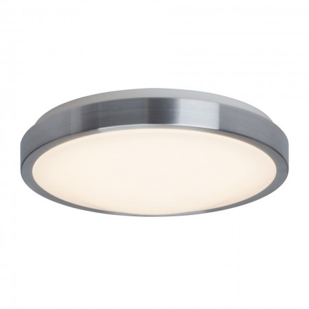 Plafoniera LED Ethan otel inoxidabil/plastic, alb, 1 bec, diametru 33 cm, 220 V