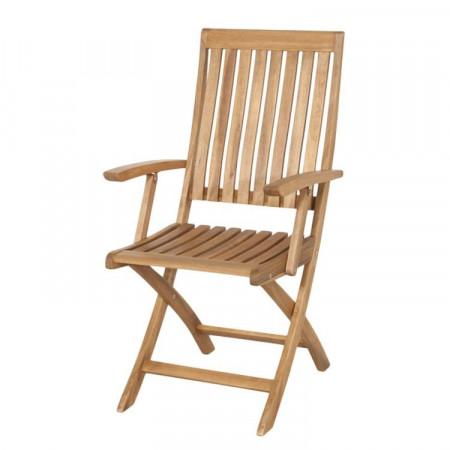 Set de 2 scaune pliabile Paleros II din salcam