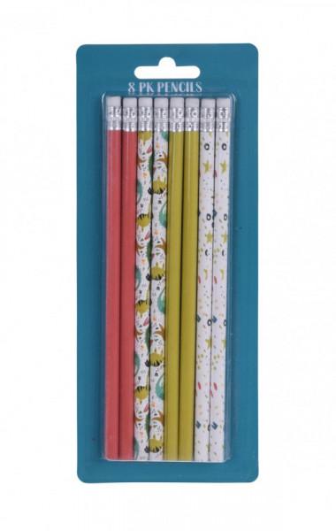 Set de 8 creioane HB cu radiera Karll