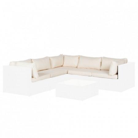 Set de huse pentru Pradise Lounge II polister, alb