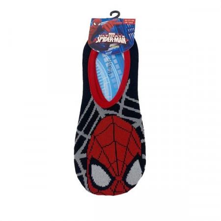 Talpici Spiderman poliester/elastan, negru/rosu