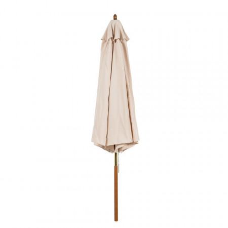 Umbrela Sombrilla I bej cu suport din eucalipt