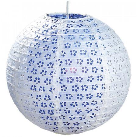 Abajur din hartie, albastru, d. 30 cm