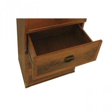 Comoda Stapleford 4 sertare, lemn, maro, 87 x 50 x 40 cm
