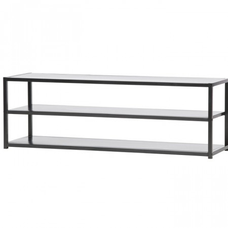 Comoda TV Hannaford, metal, neagra, 120 x 40 x 35 cm
