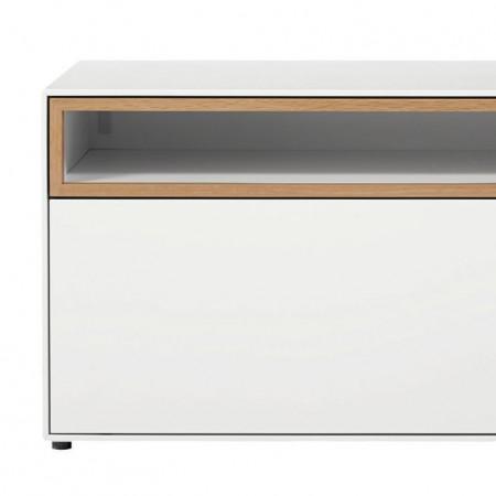 Comoda TV Hulsta now easy MDF/plastic, alb, 128 x 44.8 x 44.8 cm