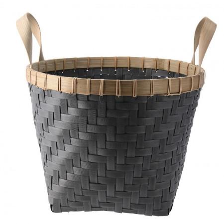 Cos pentru depozitare rotund KUBU, Home Styling Collection, bambus, negru
