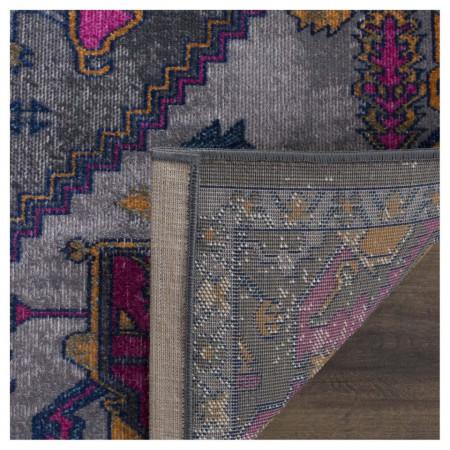Covor Alroy tesatura mixta, gri/roz, 120 x 180 cm