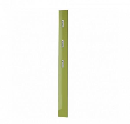 Cuier Colorado MDF/aluminiu, verde lucios, 15 x 170 x 4 cm