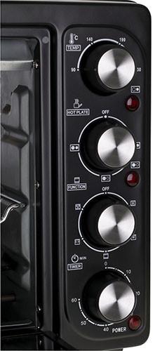 Cuptor electric cu ochiuri plita Adler AD 6020, 2500 W, otel inoxidabil, negru