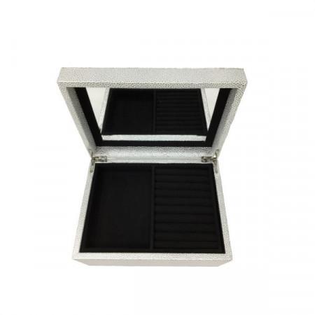 Cutie pentru bijuterii gri, 26 x 23 x 19 cm