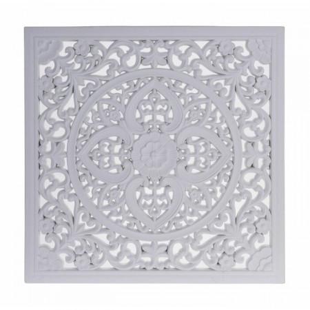 Decor de perete, MDF, alb, 50 x 50 cm