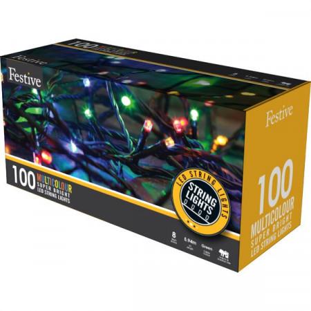 Instalatie Multi Action LED, 100 lumini multicolore