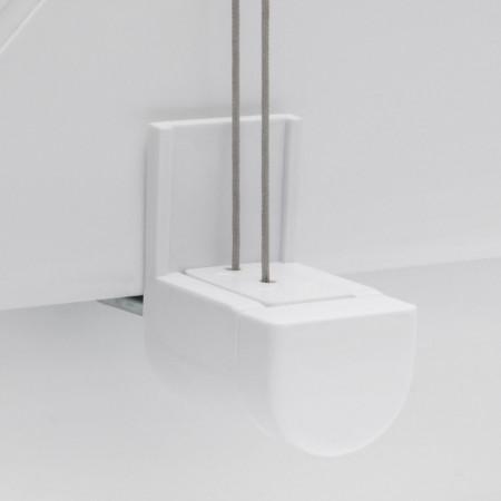 Jaluzea Klemmfix Fyn, tesatura, gri inchis,  50x130 cm