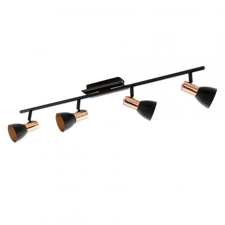 Lustra LED Barnham, otel / cupru , 4 becuri