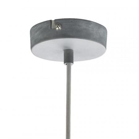 Lustra tip pendul Miram fier, gri, 1 bec, 230 V, diametru 41 cm