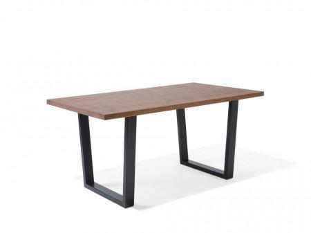 Masa AUSTIN, neagra/maro, 76 x 90 x 160 cm