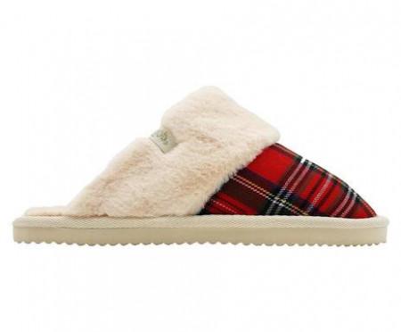 Papuci de casa Slip Check rosu, 37