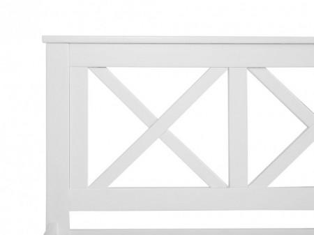 Pat Tannay din lemn masiv, alb, 140 x 200 cm