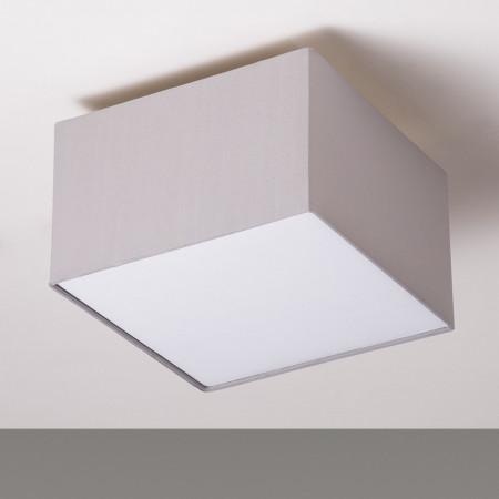 Plafoniera Borris tesatura/fier, 30cm, gri deschis, 2 becuri, 240 V